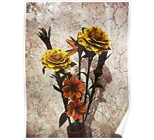 Hand made Flowers Poster