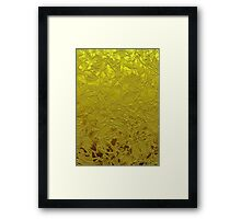 Metal Grunge Relief Floral Abstract Framed Print