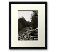 Walking on a track Framed Print