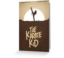 KARATE KID - Minimal Silhouette Poster Design Greeting Card