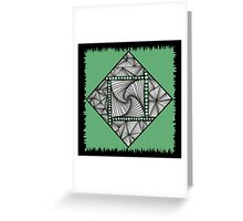 Paradox Tile on Green Greeting Card