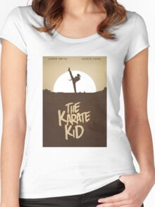 KARATE KID - Minimal Silhouette Poster Design Women's Fitted Scoop T-Shirt