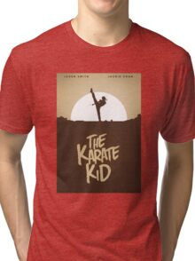 KARATE KID - Minimal Silhouette Poster Design Tri-blend T-Shirt