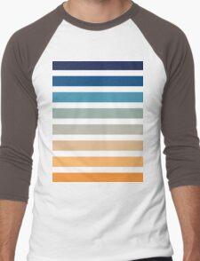 Beach- Sand, Ocean, Sunset sky Color Theme Men's Baseball ¾ T-Shirt