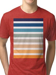 Beach- Sand, Ocean, Sunset sky Color Theme Tri-blend T-Shirt