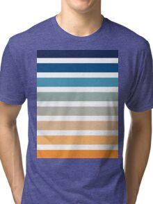 Beach- Sand, Ocean, Sunset sky Color Theme Tri-blend T-Shirt