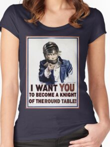 Uncle Sam- The Round Table Women's Fitted Scoop T-Shirt