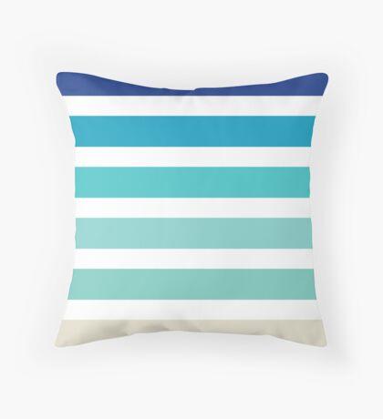 Beach- Sand, Ocean, Sky Color Theme Throw Pillow
