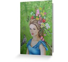 Spring flowers in her hair Greeting Card