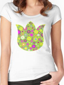 Flower Whimsy Women's Fitted Scoop T-Shirt