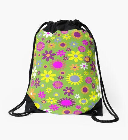 Flower Whimsy Drawstring Bag