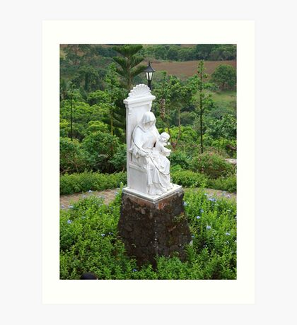 Caleruega Church white statue (closer look) in Batangas, Philippines Art Print
