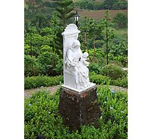 Caleruega Church white statue (closer look) in Batangas, Philippines Photographic Print