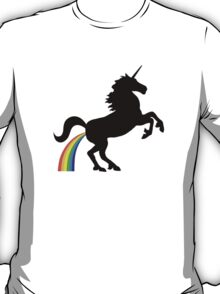 Unicorn Rainbow Poo (black design) T-Shirt