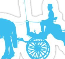 Horse and Buggy Sticker