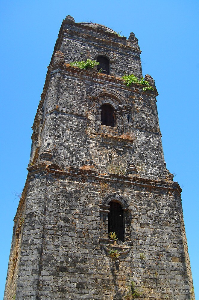 Paoay Church Tower in Ilocos Norte, Philippines by walterericsy