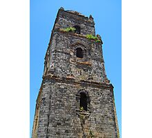 Paoay Church Tower in Ilocos Norte, Philippines Photographic Print