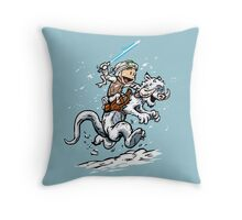 Calvin and Hoth Throw Pillow