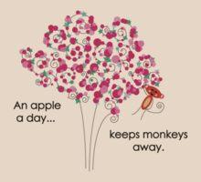 An Apple A Day... Keeps Monkeys Away. by TwistedHearts