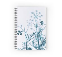 Blue Botanical Abstract Spiral Notebook
