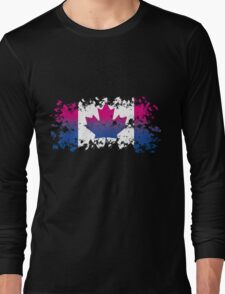Canadian Flag- Bisexual Pride Long Sleeve T-Shirt