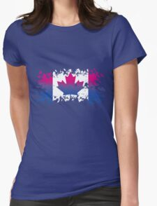 Canadian Flag- Bisexual Pride Womens Fitted T-Shirt