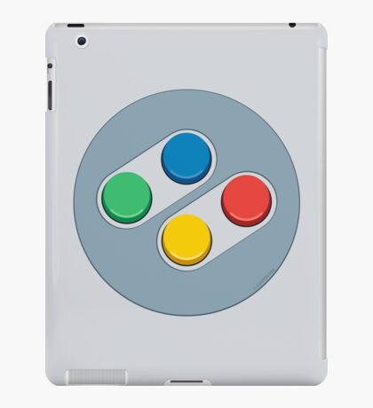 SNES Controller Buttons iPad Case/Skin