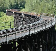 Train trestle by StevejHansen