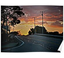 West on 138 - Sunset Under Stratus Clouds - © 2010 *featured Poster