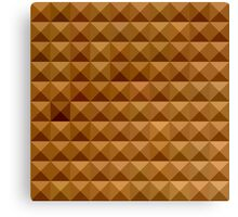 Bronze Brown Abstract Low Polygon Background Canvas Print