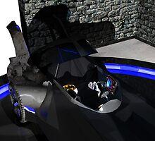 Batmobile interior by Matt Tollenaar