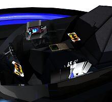 Batmobile interior 2 by Matt Tollenaar