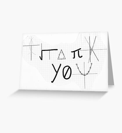 Mathematical Thank You Card Greeting Card