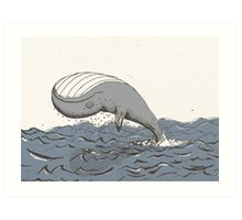 Whale of a Day Art Print