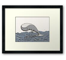 Whale of a Day Framed Print