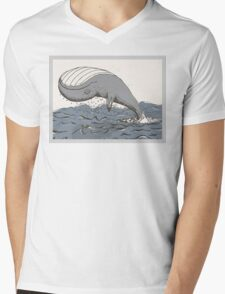 Whale of a Day Mens V-Neck T-Shirt
