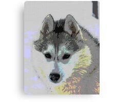 Retro Husky  Canvas Print