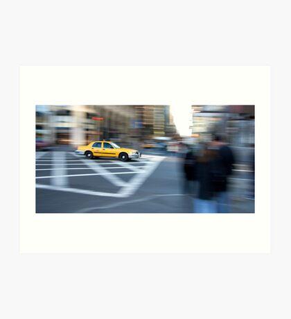 Taxi Cab New York Art Print