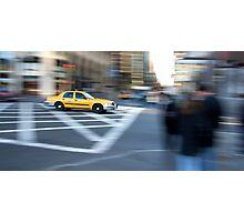 Taxi Cab New York Photographic Print