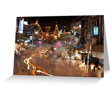 Haridwar: The busy streets Greeting Card