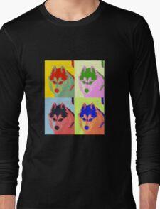 Retro Husky  Long Sleeve T-Shirt