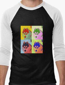 Retro Husky  Men's Baseball ¾ T-Shirt