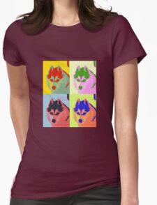 Retro Husky  Womens Fitted T-Shirt