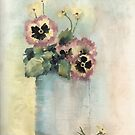 Pansies In A Can by arline wagner