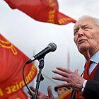 Tony Benn keeps the red flag flying by Umbra101