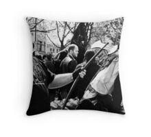 belt and braces at clerkenwell green Throw Pillow