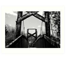The hanging bridge Art Print