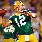 #12 Packers Aaron Rogers NFL by kyddco