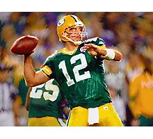 #12 Packers Aaron Rogers NFL Photographic Print
