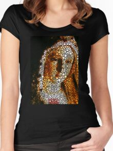Mary - Holy Mother By Sharon Cummings Women's Fitted Scoop T-Shirt
